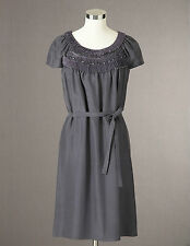 BODEN BNIB Embellished Silk Dress - Gunpowder - UK 10 L; US 6; D 36;F 38 (long)
