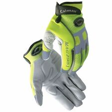 Caiman 2981 Genuine Deer Skin Hi-Viz Mechanic Gloves W/ Reflective Trim -X-Large