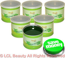 6 Wax Cans 16 Ounce Aloe Scent Hair Removal Depilatory Skin Spa Salon Equipment