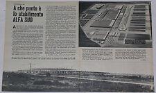 Article Articolo 1969 ALFA ROMEO STABILIMENTO ALFA SUD