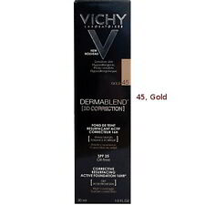 Vichy Dermablend 3D Corrective Resurfacing Foundation Gold 45 30ml GENUINE & NEW