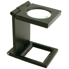 7X Folding Magnifier for Stamps & Coins Hobby Collector Magnification Tool