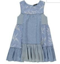BNWTS Baby Girls Dress George Patchwork Blue Long 1.5-2 Years Old