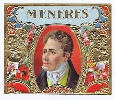 Meneres, original outer cigar box label, man