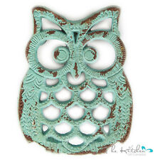 Cast Iron Owl Shaped Trivet  Owl Pot Holder Stand / Kitchen Worktop Table Saver