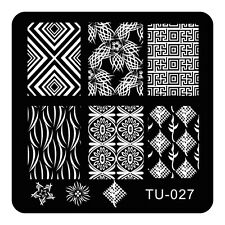 HOT Manicure TU Nail Stamping Plate Stainless Steel Nail Art Stamp Template T-27