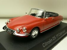 CITROEN DS 19 CABRIOLET 1965 CORAIL RED NOREV 157009 1:43