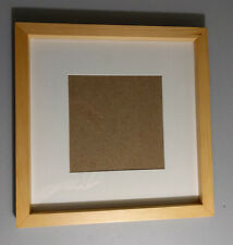"Natural Wood Grain Square Picture Frames 12""x12"" (wood), Matted, Hanging"