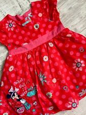 Baby Girl Disney Minnie Mouse Red Dress Age 6-9 Months