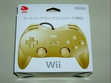 R02-08 NEW! LIMITED! Club Nintendo Japan Golden Wii Classic Controller Pro
