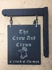 Bespoke Hanging Pub Bar Sign With Bracket Man Cave Shed Custom Made Personalised