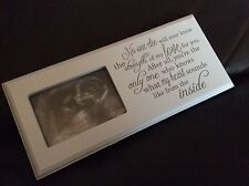 Baby Scan Picture Photo Frame Plaque Pregnancy Baby Shower Gift Free P&P