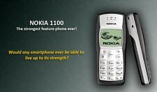 Nokia 1100 WHITE DISPLAY Nokia Battery and Compatible Charger(6 Month Warranty)