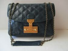 Marc Jacobs Mini Polly Quilted Leather Shoulder Bag in Blue ,New,  $795