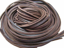 New Genuine Natural Tan Leather Shoelaces 3mm Square Boot Laces 80cm 120cm 140cm