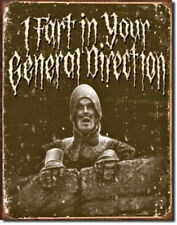 """Monty Python """"Holy Grail"""" """"In Your General Direction"""" Tin Metal Sign"""
