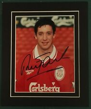 "ROBBIE FOWLER - LIVERPOOL & ENGLAND SIGNED PHOTO IN DISPLAY MOUNTED 12"" x 10"""
