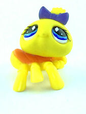 Littlest Pet Shop #593 LPS Yellow Spider Lavender Bow Blue Diamond Eyes 2007