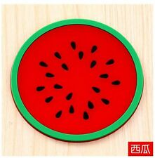 Jelly fruit shape silicone cup pad coaster slip insulation pad creative 00000000