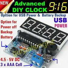 New Upgraded DIY Advanced Digital LED Alarm Clock Kit AT89C2051 New 4 Arduino