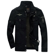 2016 New Men's Military Style Slim Fit Zip Jacket Air Force jacket Military Coat