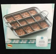 MARTHA STEWART COLLECTION BROWNIE SLICE PAN NEW IN BOX