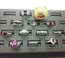 Lot 12 Resale NEW QVC Italy Gemstone Rings all Sterling Silver 925 50g No Scrap