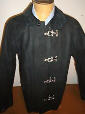 Polo Ralph Lauren Suede Leather Goshen Fireman Coat Jacket NWT XL $1995 Black