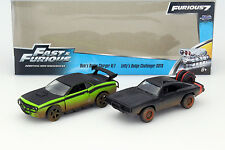 Fast and Furious 2-car SET Charger/Challenger Dirty Version 1:32 Jada Toys