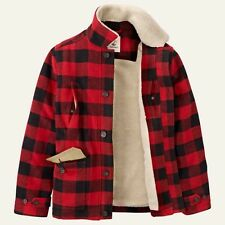 TIMBERLAND MEN'S MT.HAYS BUFFALO PLAID RED JACKET #8169J-039 $219. SZ:L