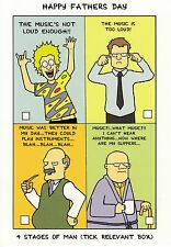 Funny Father's Day Card ~ 4 Stages Of Man -  PRF012