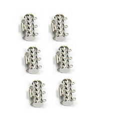 6x16 MM DIY Jewelry Findings 3-Strand white Gold Filled Tube Box Clasp 1 Piece