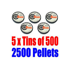 5 x Tins of 500 x .22 Caliber Air Pistol Rifle Pellets