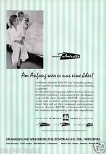 Spinnerei Zell Schönau Wiesental XL Reklame 1956 Hattingen Rohmatt Wehr Werbung