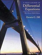 A First Course in Differential Equations: The Classic Fifth Edition by Dennis...