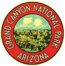 Grand Canyon National Park    Vintage-Looking Travel Decal/Luggage Label/Sticker