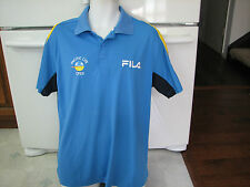 U.S. Open of Tennis Pacific Life insurance Fila jersey shirt men's large