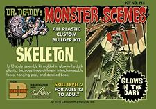 2016 Dr. Deadlys Glow-in-the-Dark Skeleton 1/13 Monster Scenes  NEW Model Kit