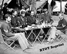 Photograph Vintage Civil War New York Officer Mess 1863  8x10