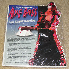 KISS GENE SIMMONS AXE BASS GUITAR PROMO DISPLAY - REAL MINT SEALED