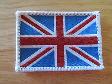 "41039 BSA NORTON TRIUMPH VELOCETTE MOTORCYCLE UNION JACK SEW ON BADGE 3"" x 2"""