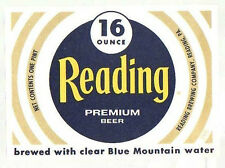 American Beer Label - Reading Brewery - USA - Reading Premium Beer