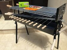 LARGE Traditional Greek Cypriot Charcoal Barbeque & Rotisserie Motor Cyprus BBQ