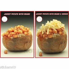 2 Big  jacket potato vinyl poster sticker catering stickers cafe takeaway pizza
