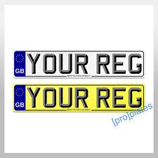 Par de placas de número de coche de calidad y mostrar Placa'S