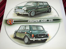 JOHN RHODES MINI COOPER RACING BMC RACING GREEN SIGNED PRINT