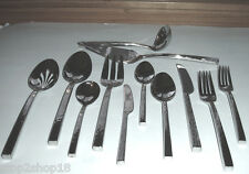 Vera Wang Wedgwood Hammered 47 Piece Service For 8 Flatware 18/10 Stainless New