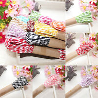 New 1Pcs 10M*2MM Cotton Twine Wedding Party DIY Crafts String Ribbon 9 Colors