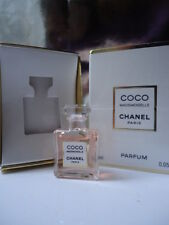 CHANEL COCO MADEMOISELLE 1.5ml PARFUM RARE MICRO MINIATURE MINT BOX & PROMO CARD