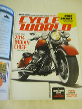 October 2013 Cycle World Magazine - 2014 Indian Chief (BD-24)